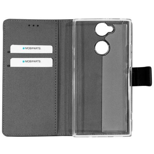 Productafbeelding van de Mobiparts Premium Wallet TPU Case Black Sony Xperia XA2