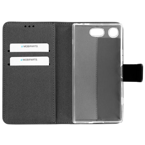 Mobiparts Premium Wallet TPU Case Black Sony Xperia XZ1 Compact