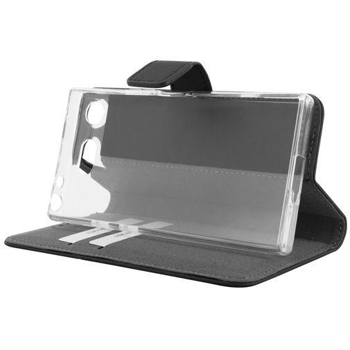 Mobiparts Premium Wallet TPU Case Black Sony Xperia XZ1 Compact