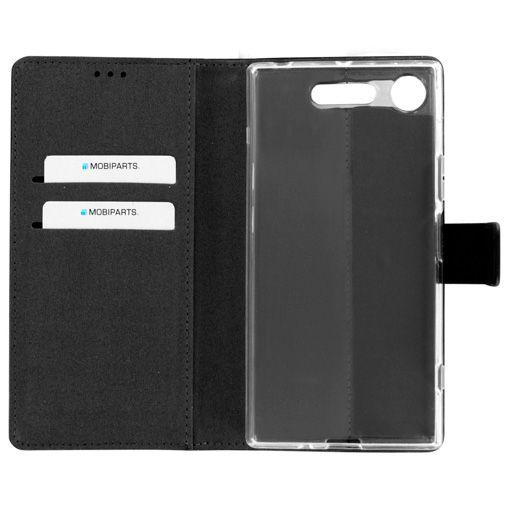 Mobiparts Premium Wallet TPU Case Black Sony Xperia XZ1