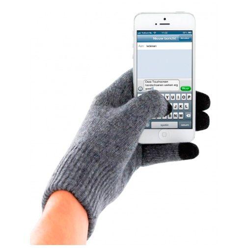 Productafbeelding van de Mobiparts Touchscreen Handschoenen (Size M) Grey