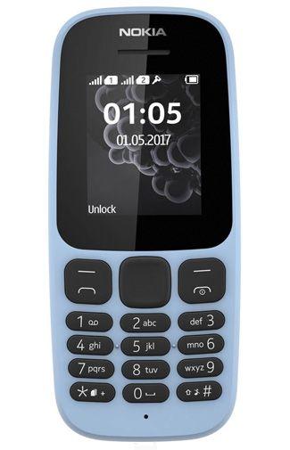 Productafbeelding van de Nokia 105 (2017) Dual Sim Blue