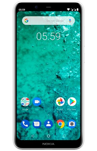 Productafbeelding van de Nokia 5.1 Plus 32GB White