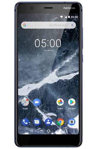Productafbeelding van de Nokia 5.1 Single Sim 16GB Blue