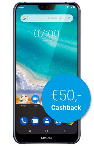 Productafbeelding van de Nokia 7.1 Blue