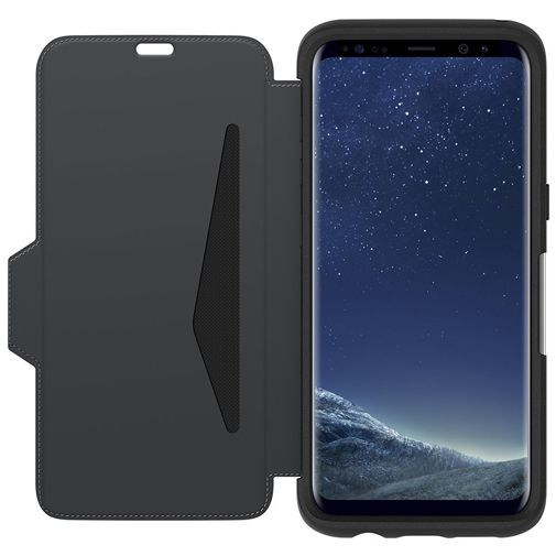 Otterbox Strada Premium Leather Folio Case Black Samsung Galaxy S8