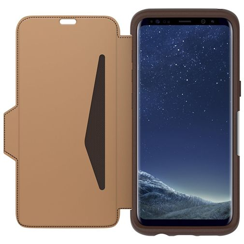 Otterbox Strada Premium Leather Folio Case Brown Samsung Galaxy S8+