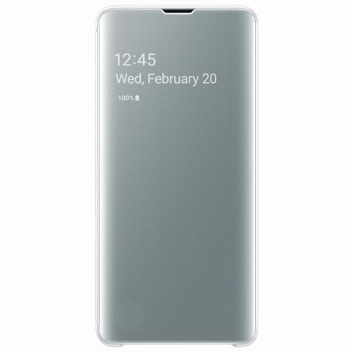 Productafbeelding van de Samsung Clear View Cover White Galaxy S10