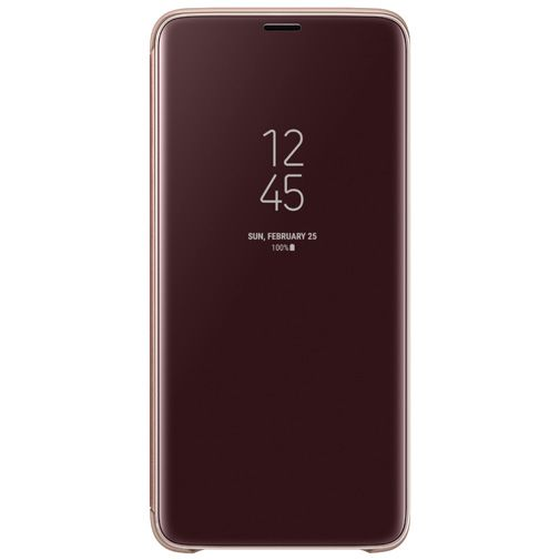 Samsung Clear View Standing Cover Gold Galaxy S9+