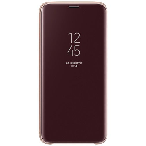 Productafbeelding van de Samsung Clear View Standing Cover Gold Galaxy S9