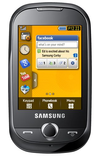 Samsung Corby S3650 Yellow