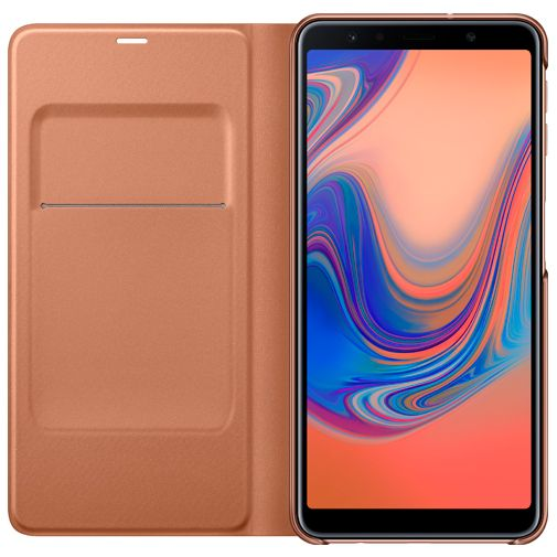 Samsung Wallet Cover Gold Galaxy A7 (2018)