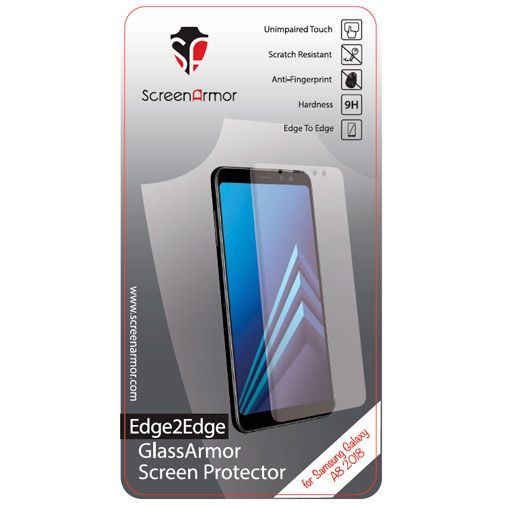 ScreenArmor Glass Armor Edge-to-Edge Screenprotector Transparent Samsung Galaxy A8 (2018)