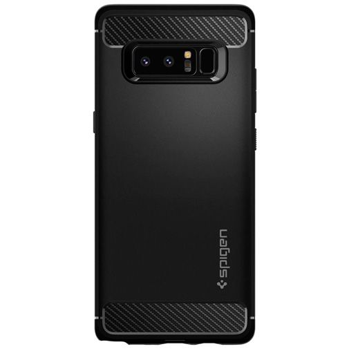Productafbeelding van de Spigen Rugged Armor Case Matt Black Samsung Galaxy Note 8