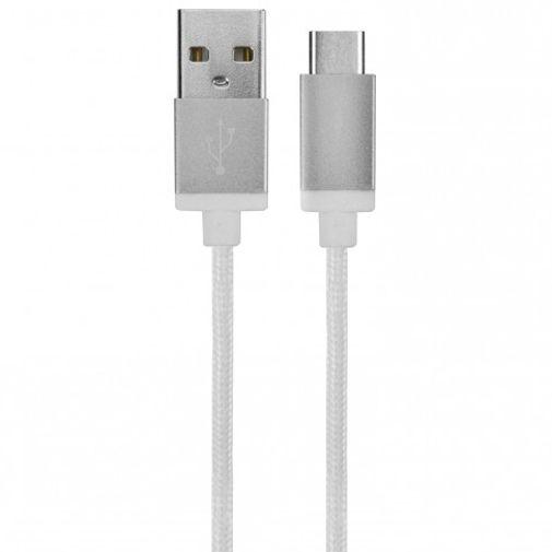 Xqisit Cotton Cable USB naar USB-C Wit