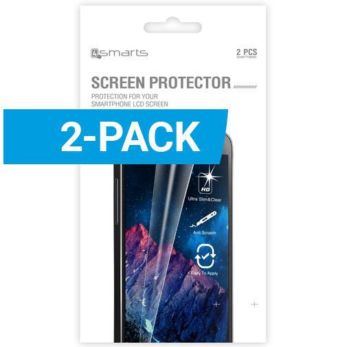 Productafbeelding van de 4smarts Clear Screenprotector Samsung Galaxy S6 Edge Plus 2-Pack