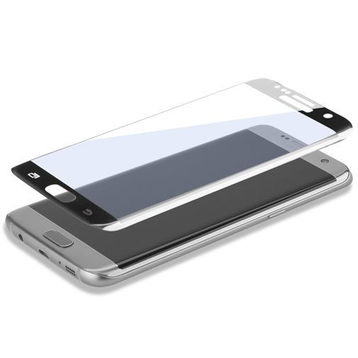 Productafbeelding van de 4smarts Second Glass Curved Screenprotector Black Samsung Galaxy S7 Edge