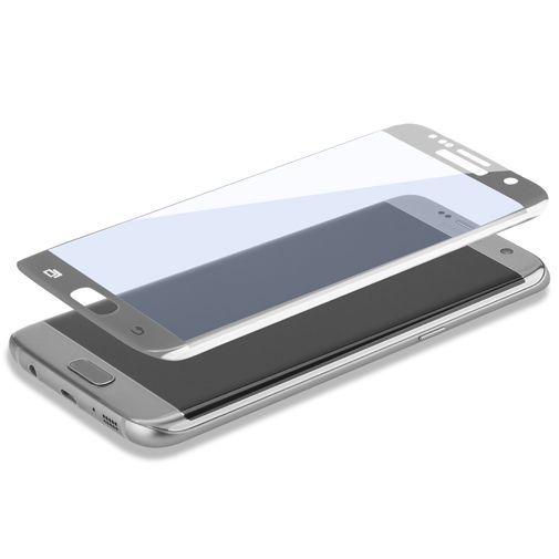 Productafbeelding van de 4smarts Second Glass Curved Screenprotector Silver Samsung Galaxy S7 Edge
