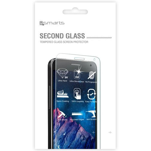 Productafbeelding van de 4smarts Second Glass Screenprotector HTC One M9 (Prime Camera Edition)