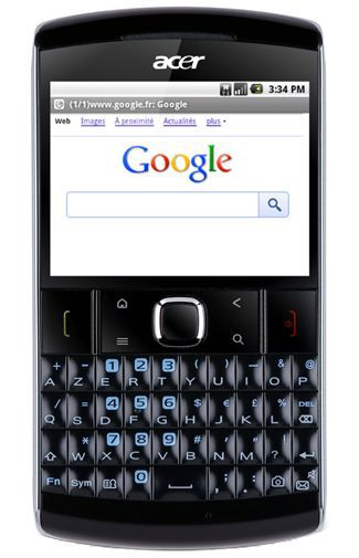 Productafbeelding van de Acer BeTouch E210 Black