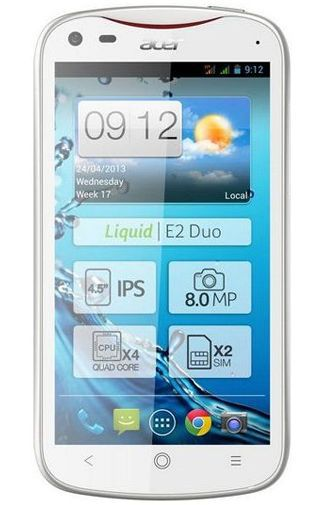 Productafbeelding van de Acer Liquid E2 Duo White