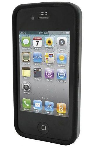 Productafbeelding van de Adapt Silicon Case Black Apple iPhone 4