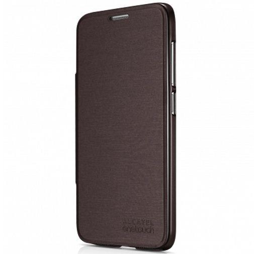 Productafbeelding van de Alcatel Flip Case Brown OneTouch Idol 2 S