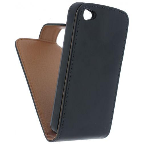 Productafbeelding van de Xccess Leather Flip Case Black Apple iPhone 4/4S