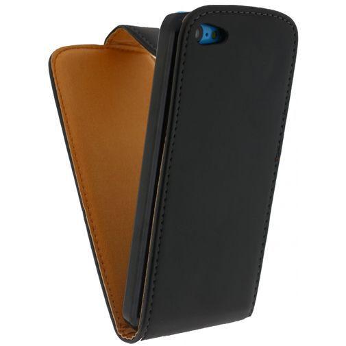 Productafbeelding van de Xccess Leather Flip Case Black Apple iPhone 5C