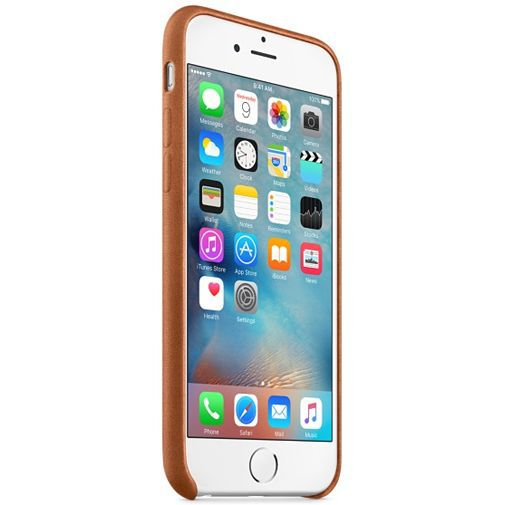 Productafbeelding van de Apple Leather Case Saddle Brown iPhone 6/6S