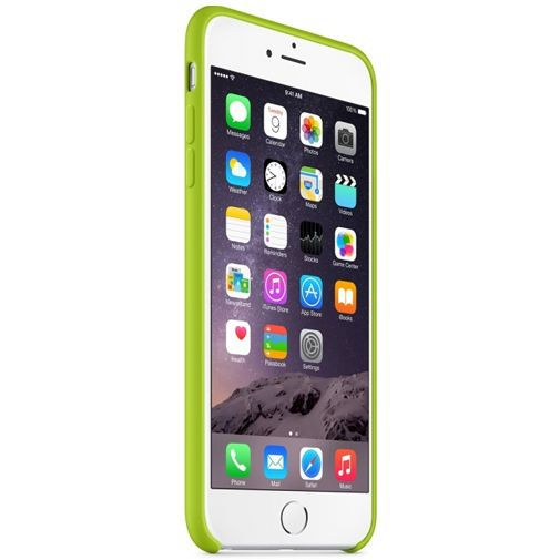 Productafbeelding van de Apple Silicone Case Green iPhone 6 Plus/6S Plus