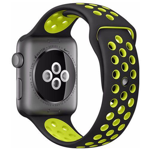 Productafbeelding van de Apple Watch Series 2 Nike+ 38mm Grey Aluminium (Black Volt Strap)