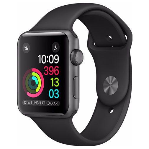 Productafbeelding van de Apple Watch Series 2 Sport 38mm Grey Aluminium (Black Strap)