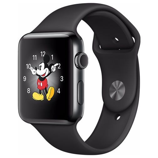 Productafbeelding van de Apple Watch Series 2 Sport 42mm Black Stainless Steel (Black Strap)
