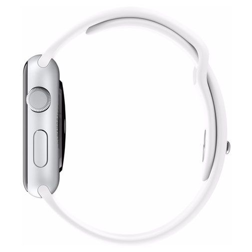 Productafbeelding van de Apple Watch Series 2 Sport 42mm Silver Aluminium (White Strap)