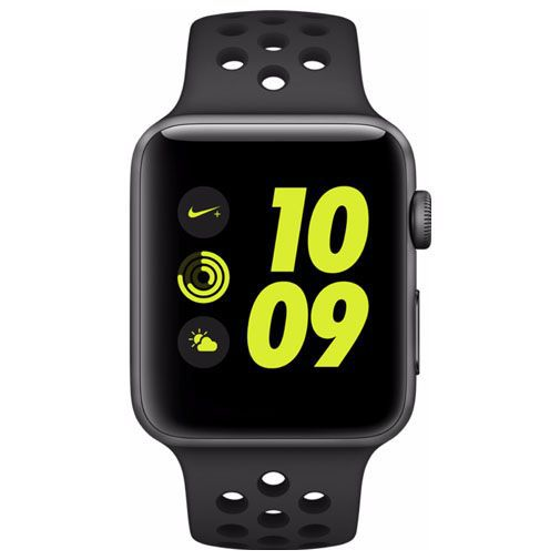 Productafbeelding van de Apple Watch Series 2 Sport Nike+ 42mm Grey Aluminium (Black Strap)