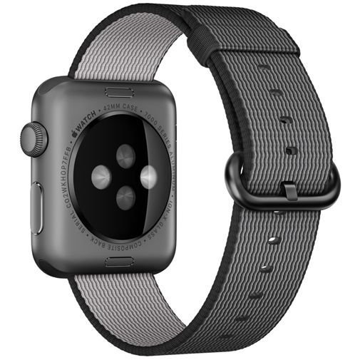 Productafbeelding van de Apple Watch Sport 42mm Black Woven Nylon