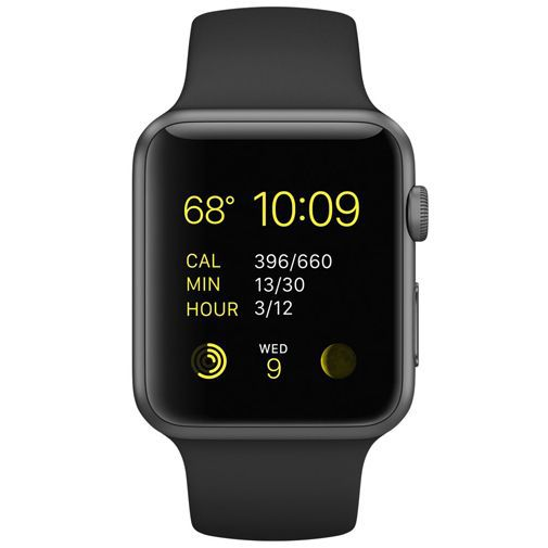 Productafbeelding van de Apple Watch Series 1 Sport 42mm Black