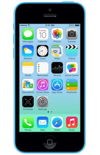 Productafbeelding van de Apple iPhone 5C 32GB Blue Refurbished