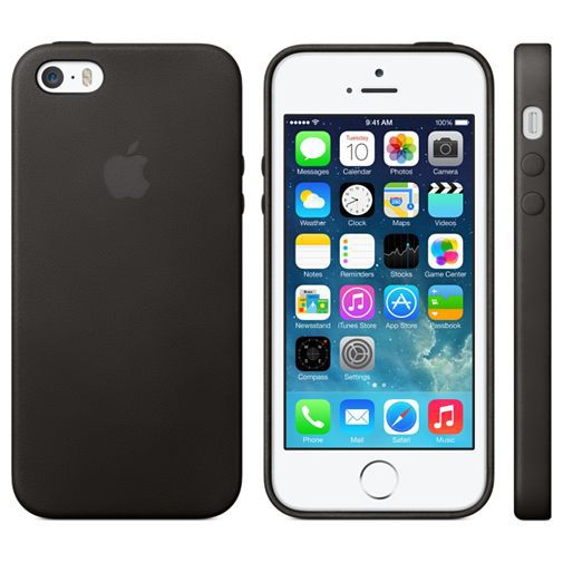 Productafbeelding van de Apple iPhone 5/5S/SE Leather Case Black