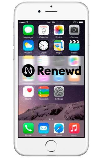 Productafbeelding van de Apple iPhone 6 16GB Silver Refurbished
