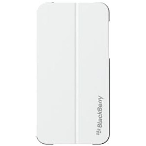 Productafbeelding van de BlackBerry Leather Flip Shell White BlackBerry Z10