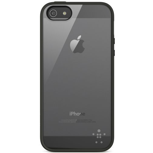 Productafbeelding van de Belkin Backcase Apple iPhone 5/5S/SE Transparant/Zwart