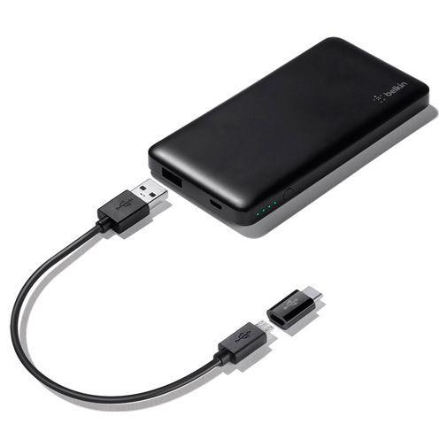 Productafbeelding van de Belkin Pocket Powerbank 5000mAh + USB-C-adapter Black
