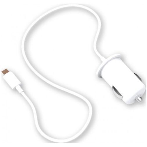 Productafbeelding van de Bigben Autolader voor Apple Lightning White