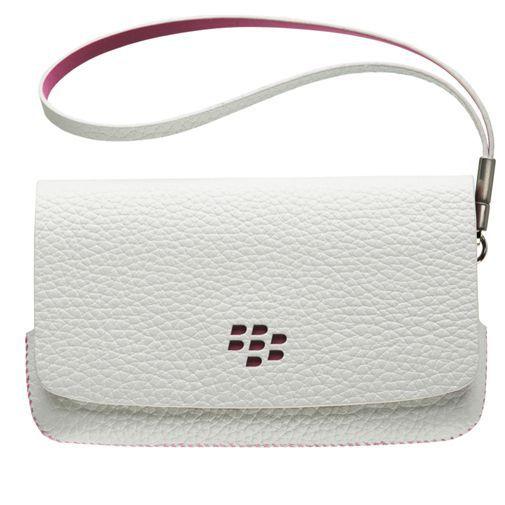 Productafbeelding van de BlackBerry Leather Folio White Pink Torch 9800/9810