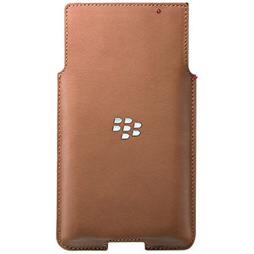 Productafbeelding van de BlackBerry Leather Pocket Tan BlackBerry Priv