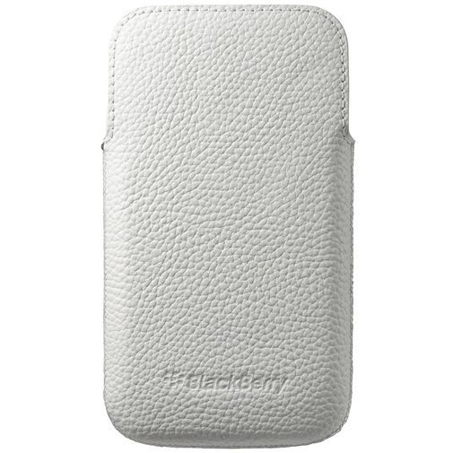 Productafbeelding van de BlackBerry Leather Pocket White BlackBerry Classic