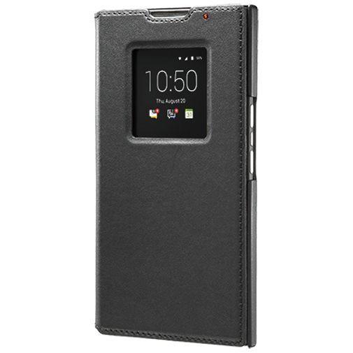 Productafbeelding van de BlackBerry Leather Smart Flip Case Black BlackBerry Priv