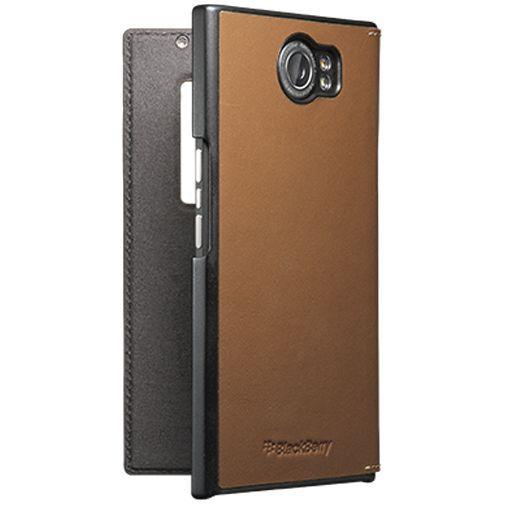 Productafbeelding van de BlackBerry Leather Smart Flip Case Tan BlackBerry Priv